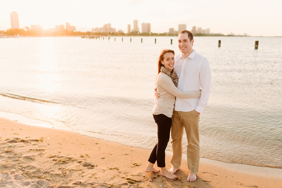 University of Chicago Engagement Session with Ghiradelli Ice Cream and Trip to the Beach by Two Birds Photography013