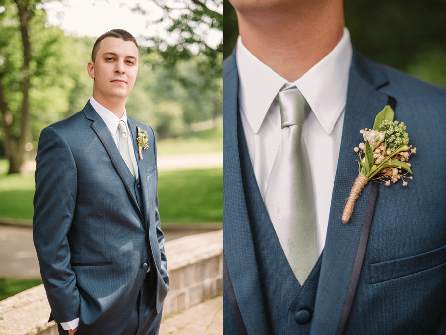 Blue and Gold Illinois Wedding at the Thunderhead Golf Club by Two Birds Photography 07