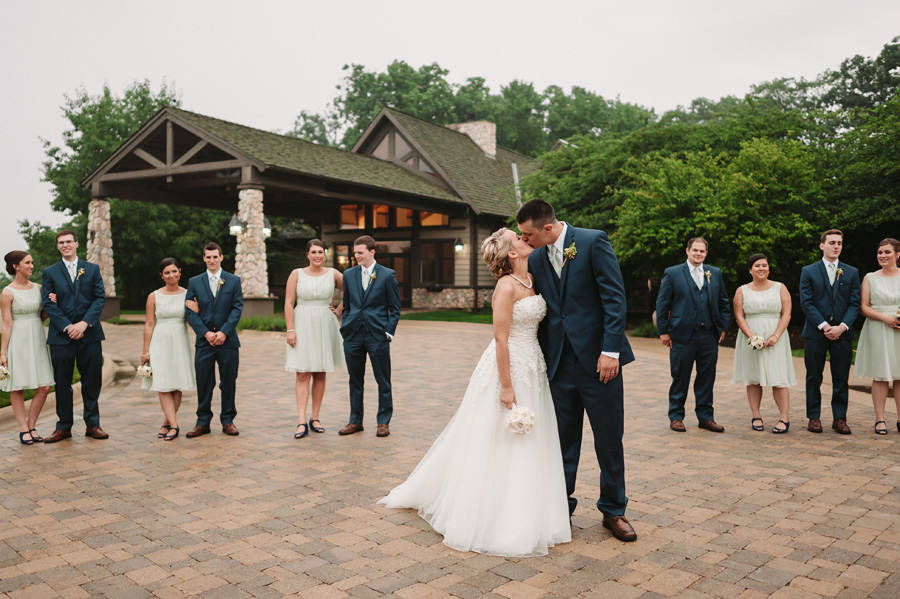 Blue and Gold Illinois Wedding at the Thunderhead Golf Club by Two Birds Photography 13