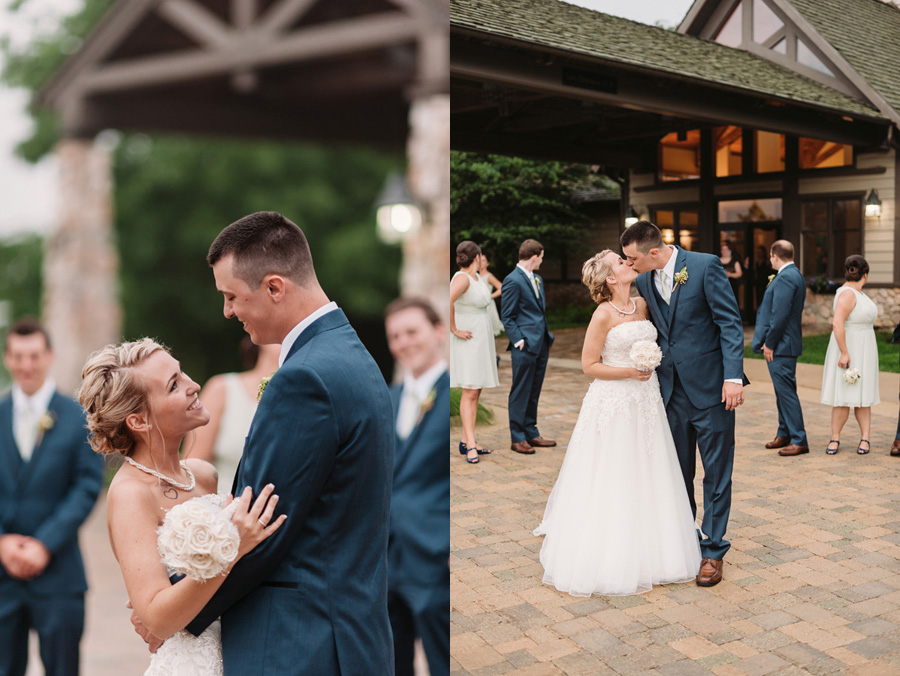 Blue and Gold Illinois Wedding at the Thunderhead Golf Club by Two Birds Photography 14