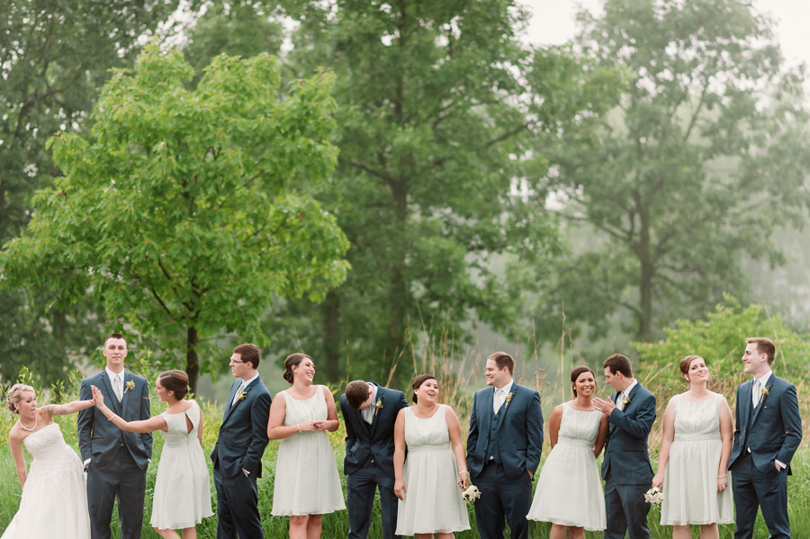 Blue and Gold Illinois Wedding at the Thunderhead Golf Club by Two Birds Photography 17