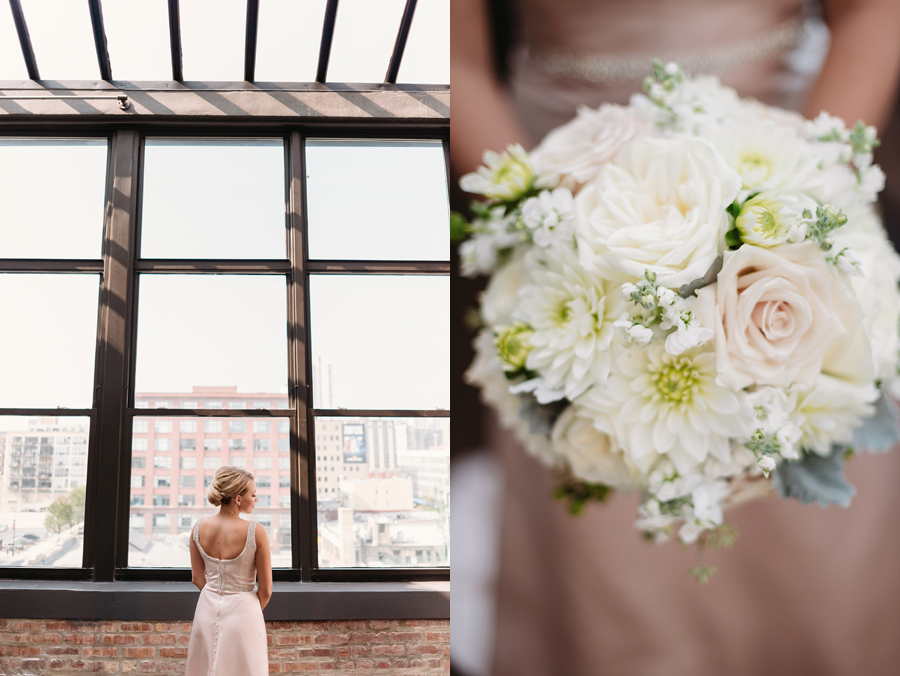 Chicago Navy Pier Rooftop Lemon Themed Wedding by Two Birds Photography 04