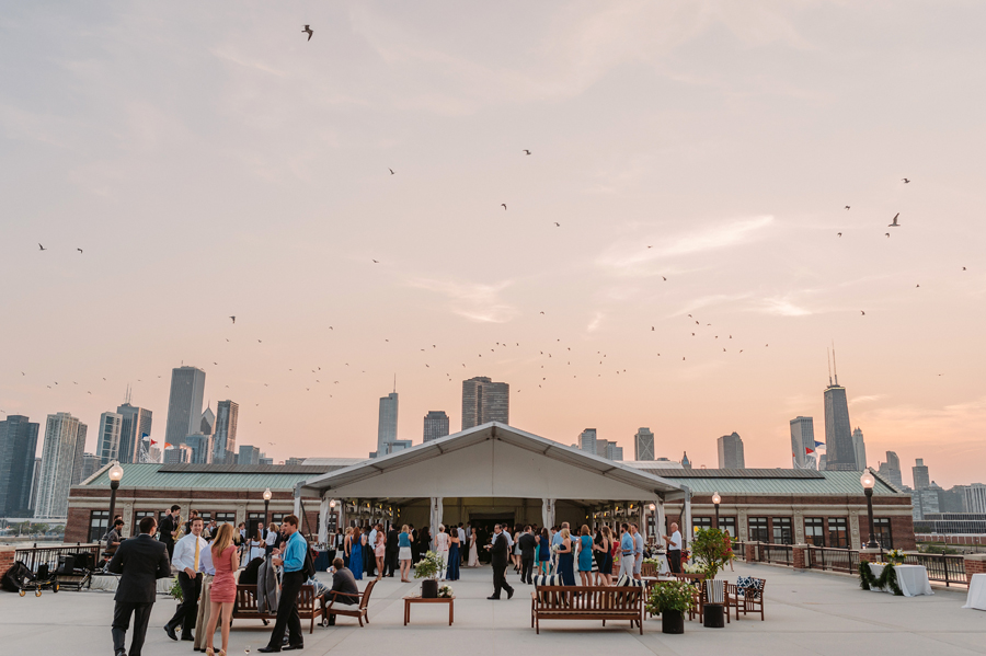 Chicago Navy Pier Rooftop Lemon Themed Wedding by Two Birds Photography 09
