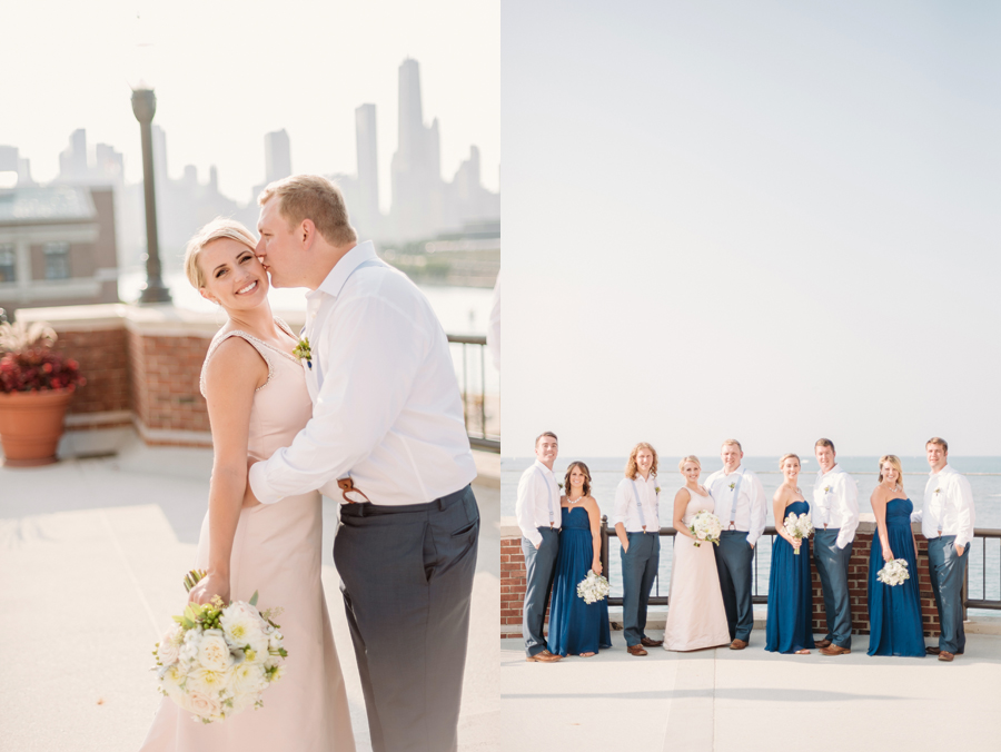 Chicago Navy Pier Rooftop Lemon Themed Wedding by Two Birds Photography 10