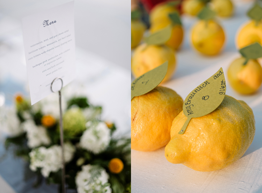 Chicago Navy Pier Rooftop Lemon Themed Wedding by Two Birds Photography 13