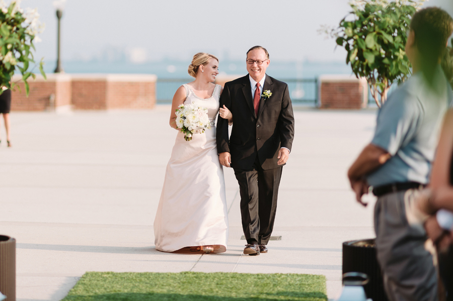 Chicago Navy Pier Rooftop Lemon Themed Wedding by Two Birds Photography 14