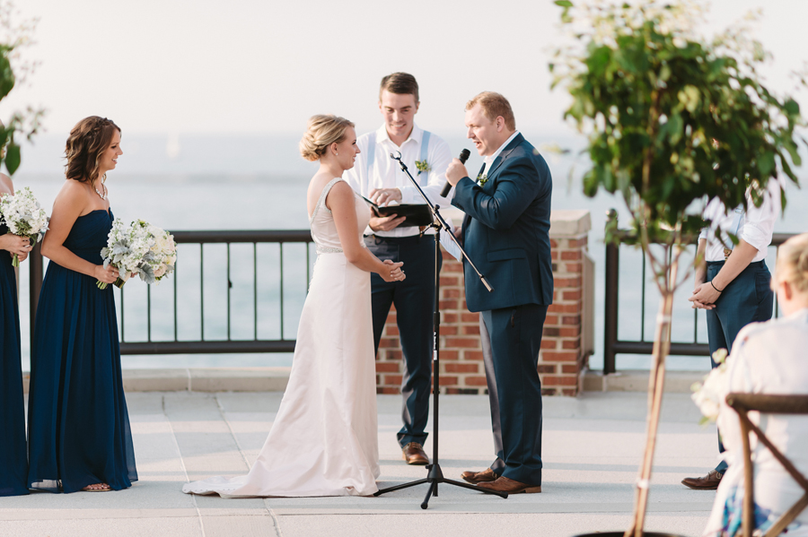 Chicago Navy Pier Rooftop Lemon Themed Wedding by Two Birds Photography 16