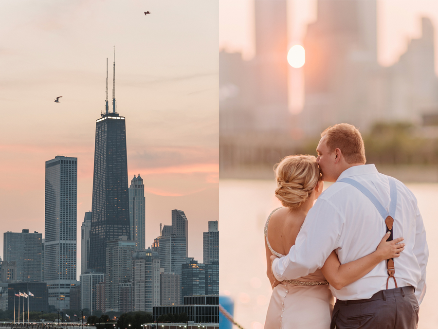 Chicago Navy Pier Rooftop Lemon Themed Wedding by Two Birds Photography 18