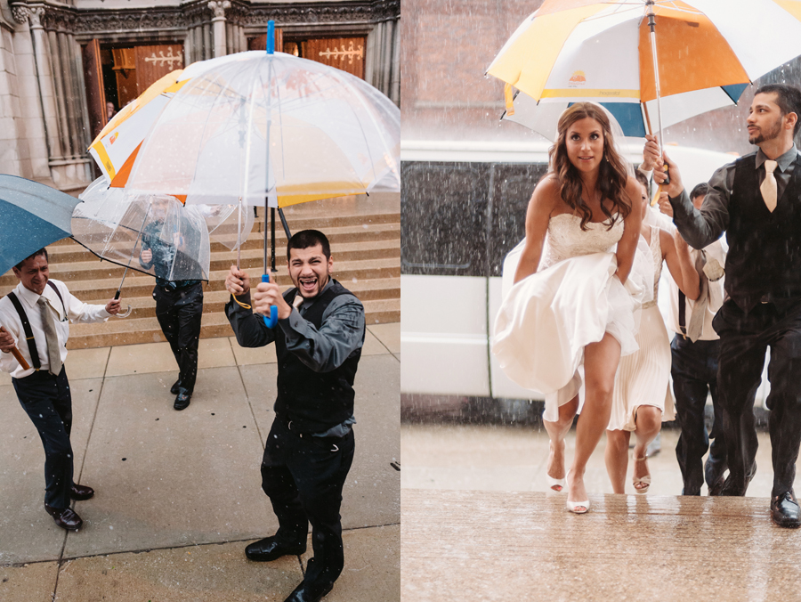 Rainy Chicago Wedding with Reception at McDonald's Corporation by Two Birds Photography08