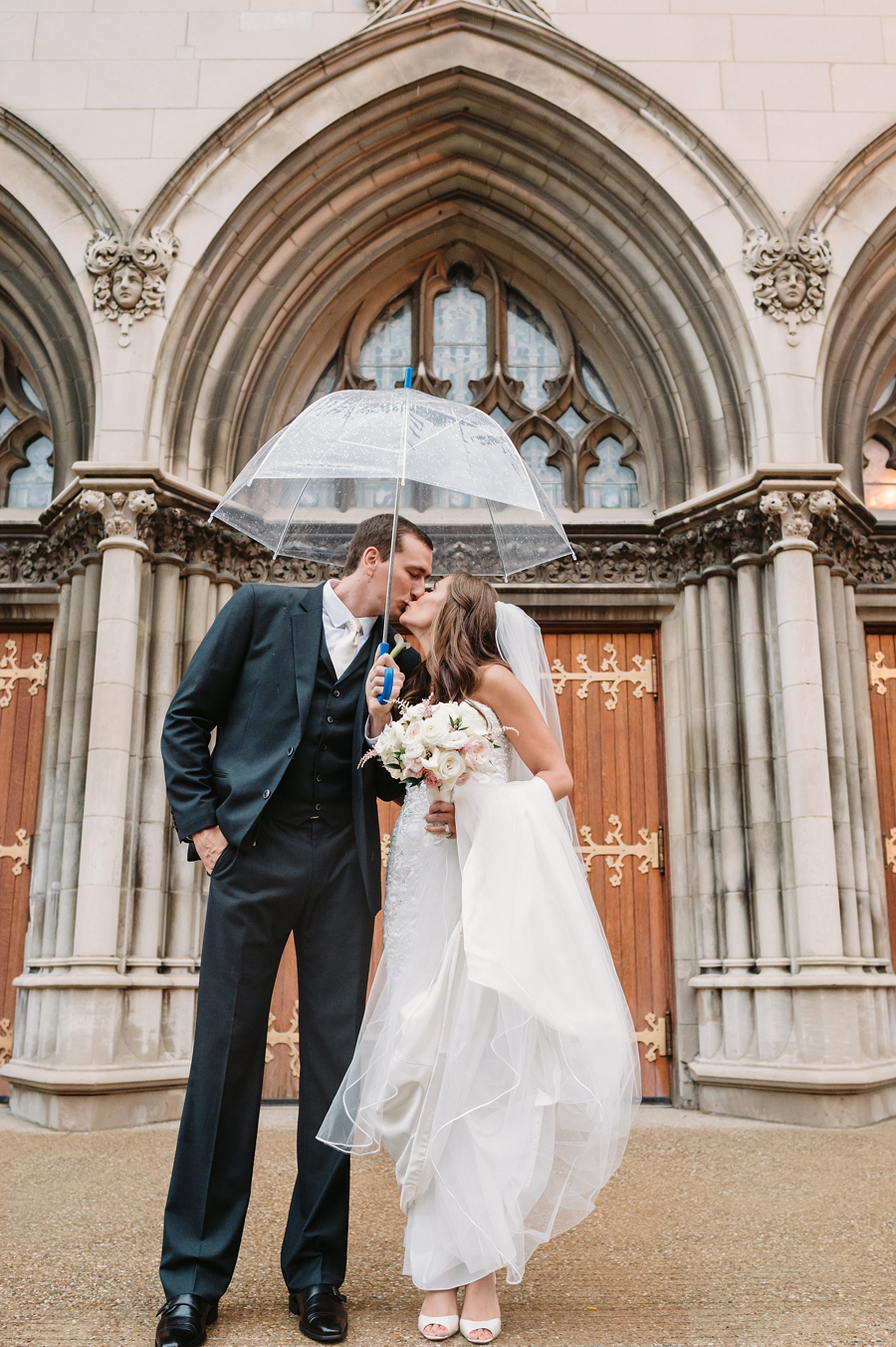 Rainy Chicago Wedding with Reception at McDonald's Corporation by Two Birds Photography16
