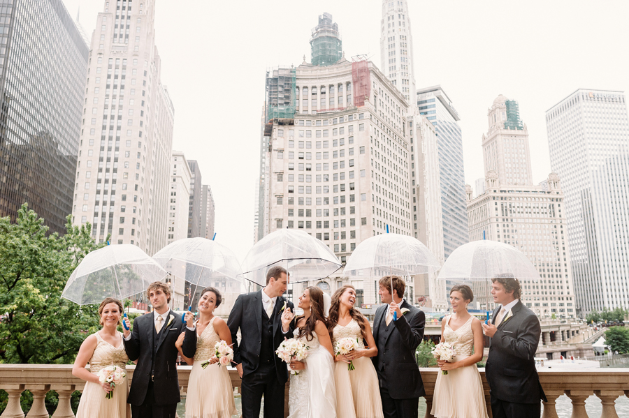 Rainy Chicago Wedding with Reception at McDonald's Corporation by Two Birds Photography18