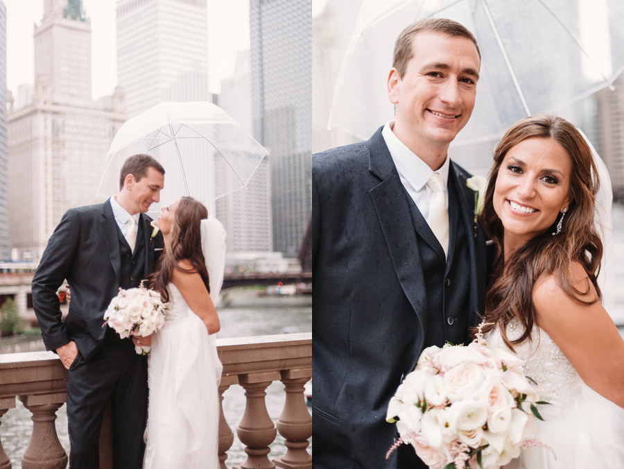 Rainy Chicago Wedding with Reception at McDonald's Corporation by Two Birds Photography19