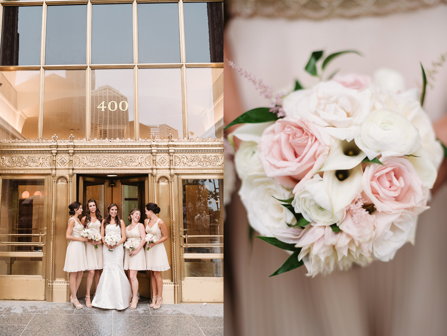 Rainy Chicago Wedding with Reception at McDonald's Corporation by Two Birds Photography21
