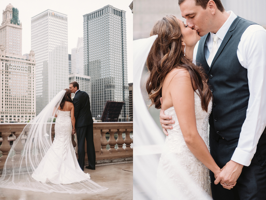 Rainy Chicago Wedding with Reception at McDonald's Corporation by Two Birds Photography23