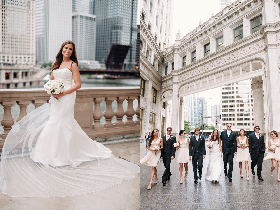 Rainy Chicago Wedding with Reception at McDonald's Corporation by Two Birds Photography25