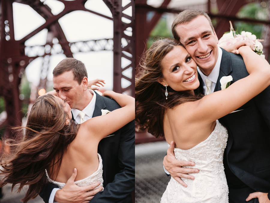 Rainy Chicago Wedding with Reception at McDonald's Corporation by Two Birds Photography28