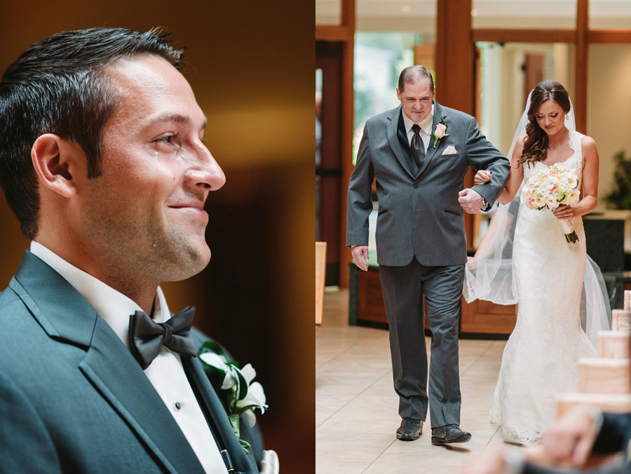 Peach Gray and Cream Western Suburbs Wedding at Oak Brook Hyatt by Two Birds Photography 07