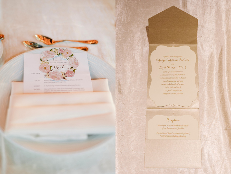 Peach Gray and Cream Western Suburbs Wedding at Oak Brook Hyatt by Two Birds Photography 29