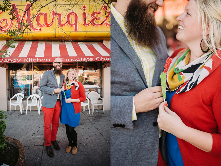 Chicago Logan Square Engagement Session Margie's Ice Cream Graffiti Lot by Two Birds Photography01