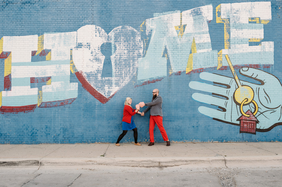 Chicago Logan Square Engagement Session Margie's Ice Cream Graffiti Lot by Two Birds Photography06