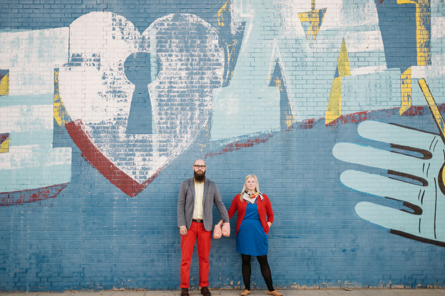 Chicago Logan Square Engagement Session Margie's Ice Cream Graffiti Lot by Two Birds Photography08