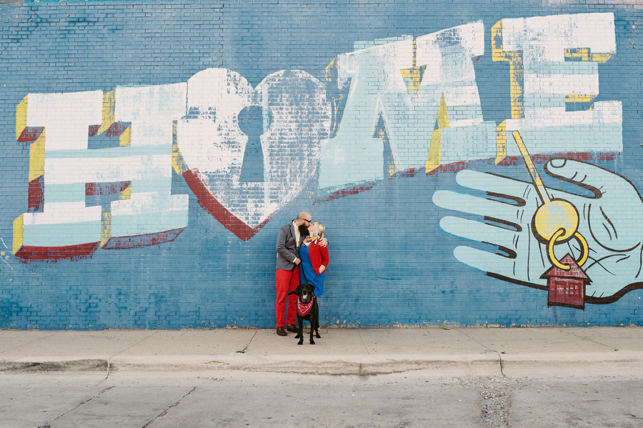 Chicago Logan Square Engagement Session Margie's Ice Cream Graffiti Lot by Two Birds Photography10