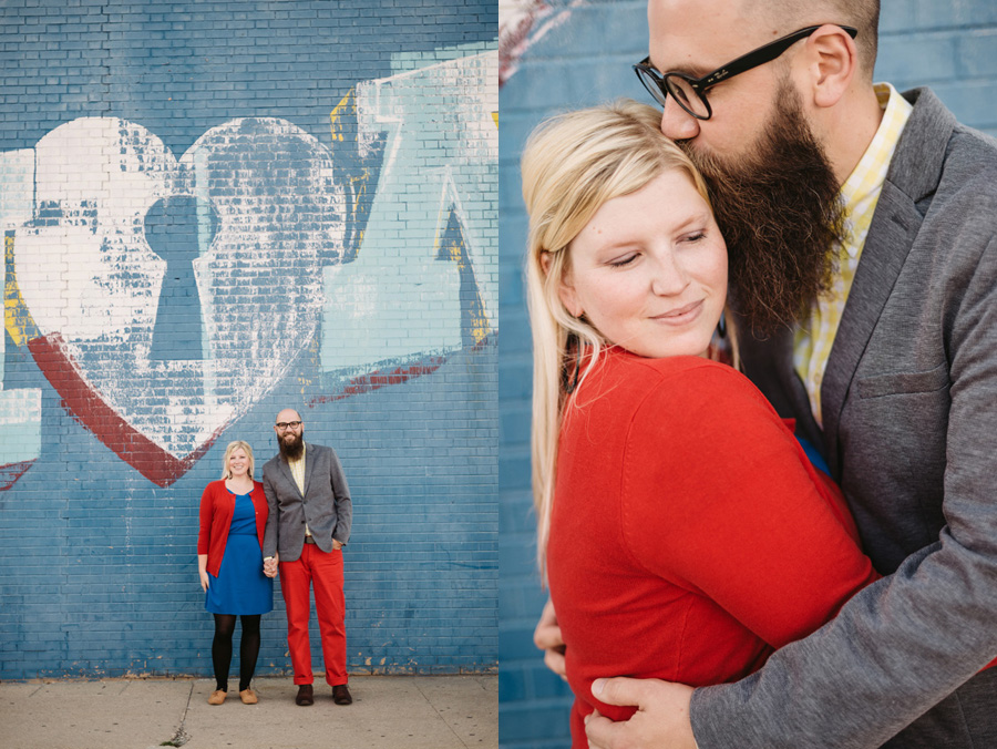 Chicago Logan Square Engagement Session Margie's Ice Cream Graffiti Lot by Two Birds Photography12