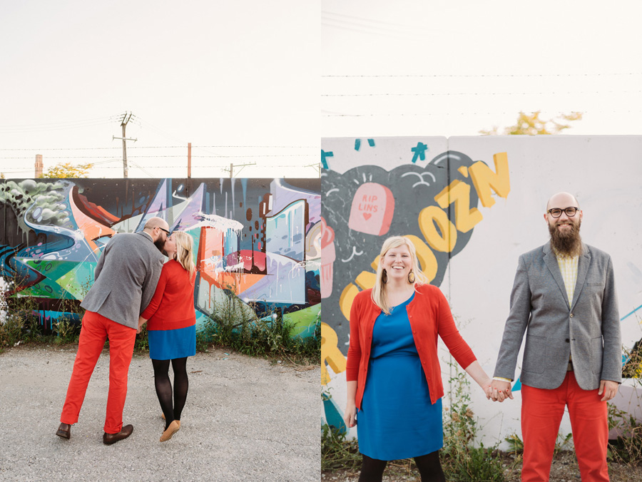 Chicago Logan Square Engagement Session Margie's Ice Cream Graffiti Lot by Two Birds Photography17