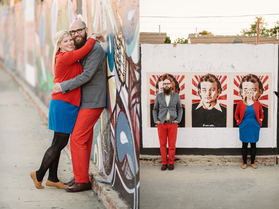 Chicago Logan Square Engagement Session Margie's Ice Cream Graffiti Lot by Two Birds Photography20