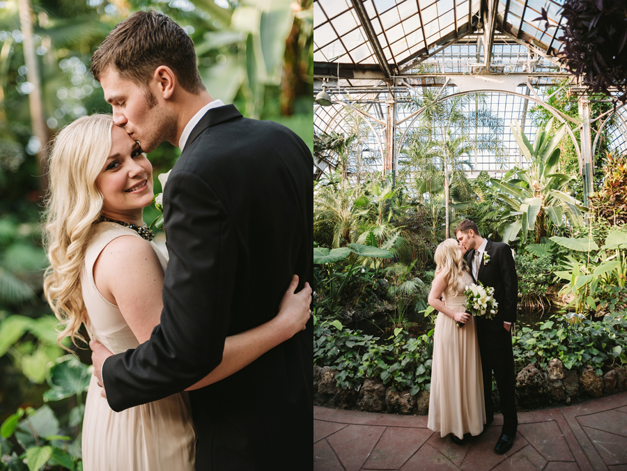 Chicago Lincoln Park Conservatory Elopement by Two Birds Photography004