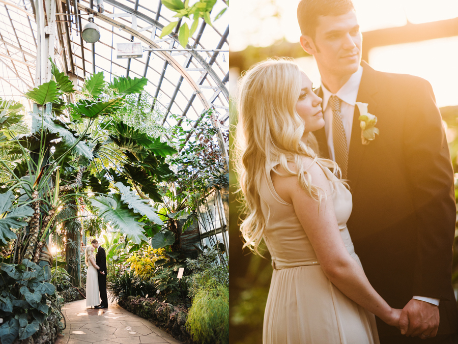 Chicago Lincoln Park Conservatory Elopement by Two Birds Photography010