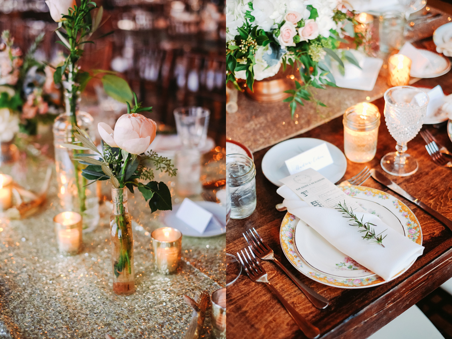 Gorgeous Vintage Rustic Glamour Chicago Wedding by Two Birds Photography034