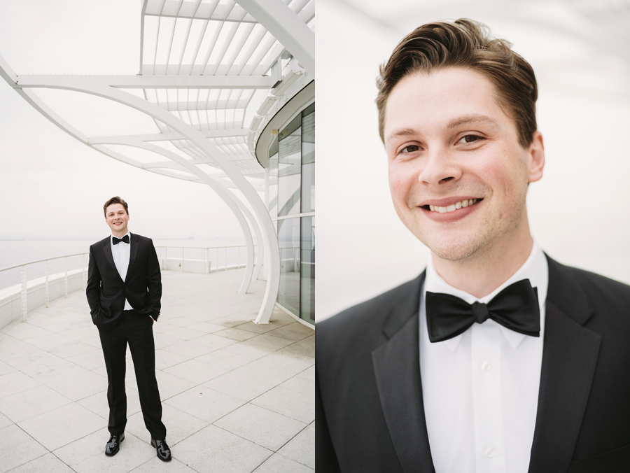 Misty Milwaukee Wedding at Discovery World by Chicago Photographers Two Birds Photography010