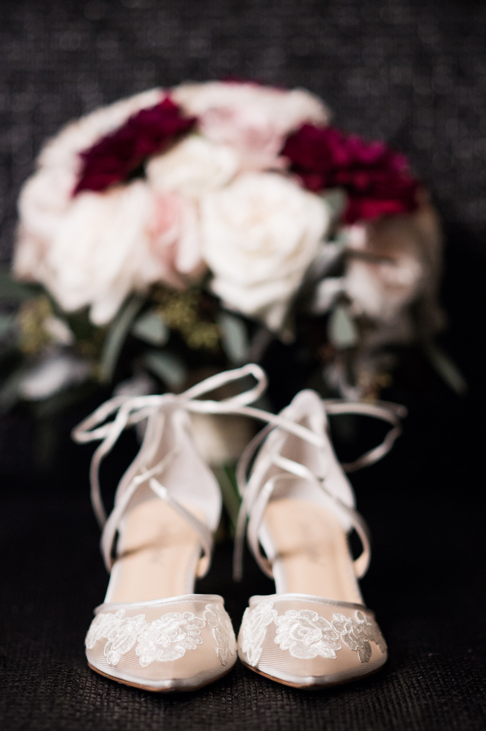 Detail shot of bride's shoes.
