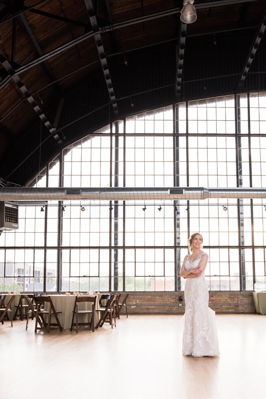 Portrait of bride at Ravenswood event center.