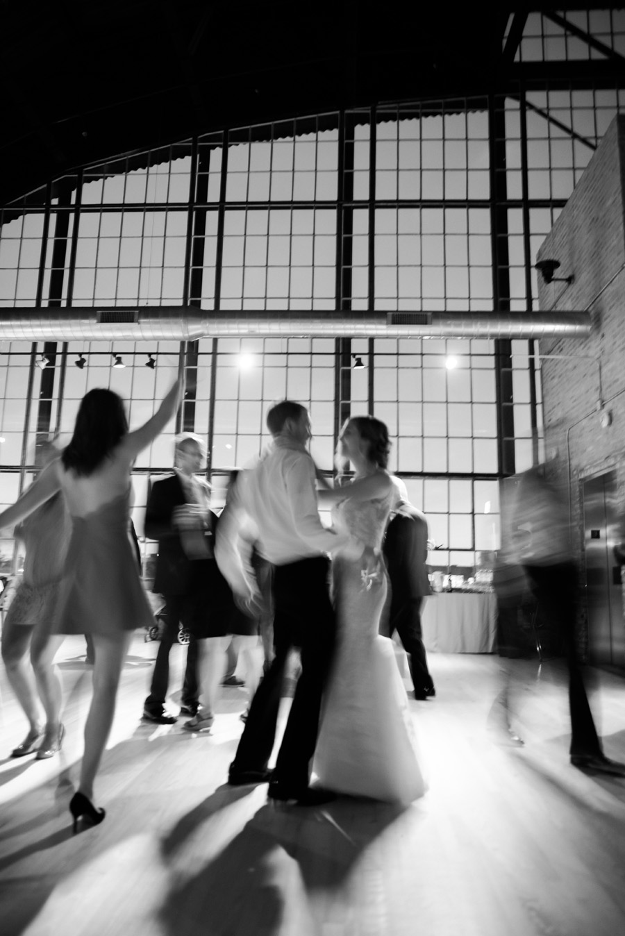Bride and groom share a dance at Ravenswood Event Center.