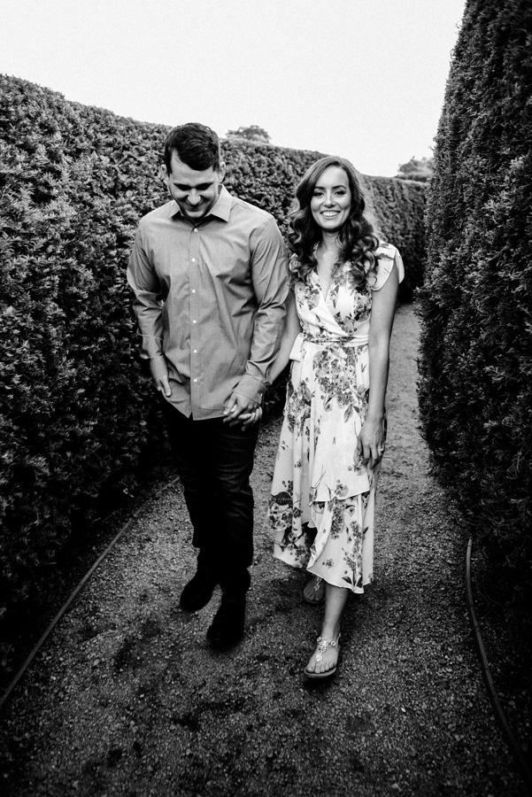 Morton Arboretum, Lisle, IL. Engagement photography by Two Birds Photography. Classic, timeless, and natural light. Serving Chicago and the suburbs.