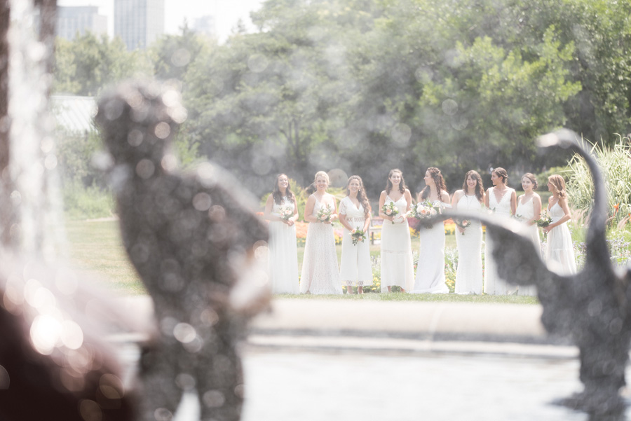 Bridesmaids at Lincoln Park, Chicago.