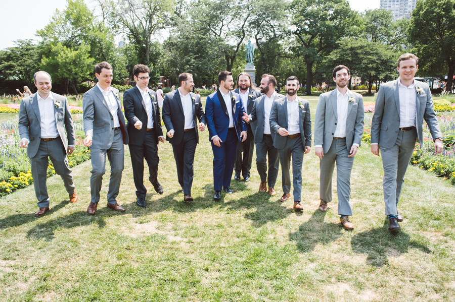 Groomsmen at Lincoln Park, Chicago, IL.