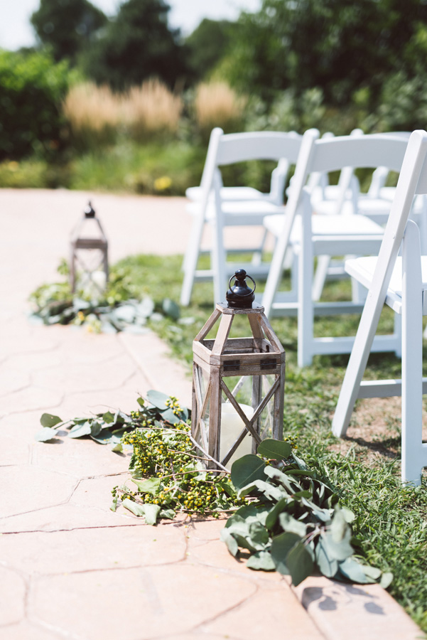 Wedding aisle detail.