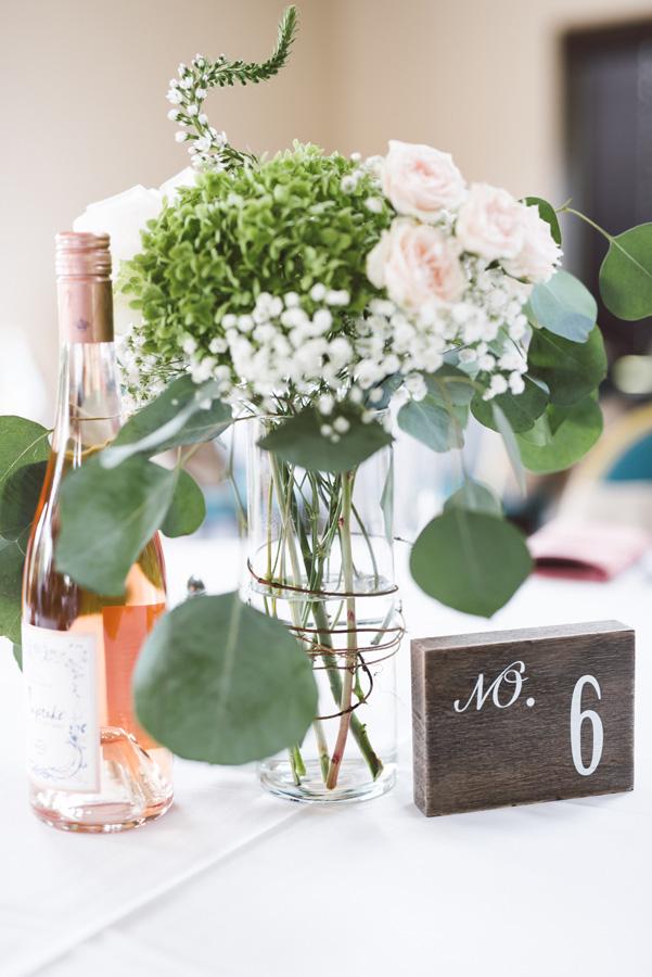 Wedding reception detail.