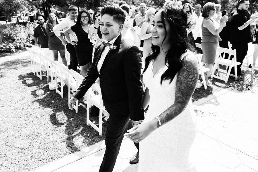 Bride and bride recessional.