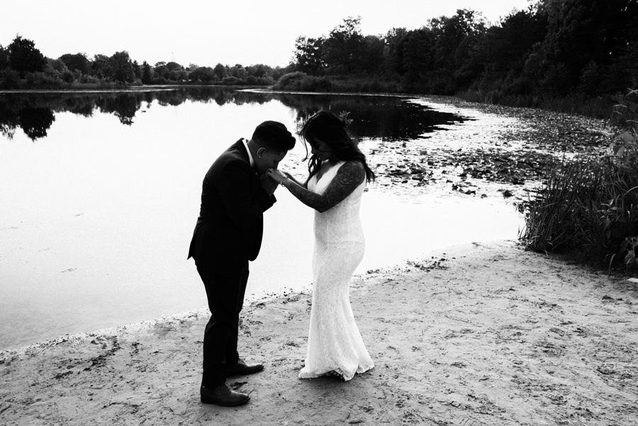 Brides at Lake Katherine.