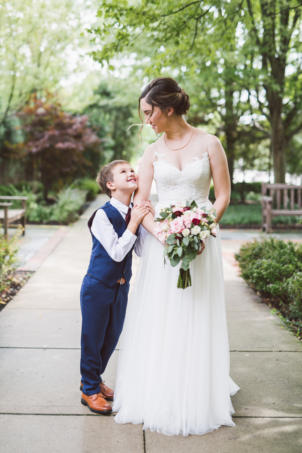 Bride and her son.