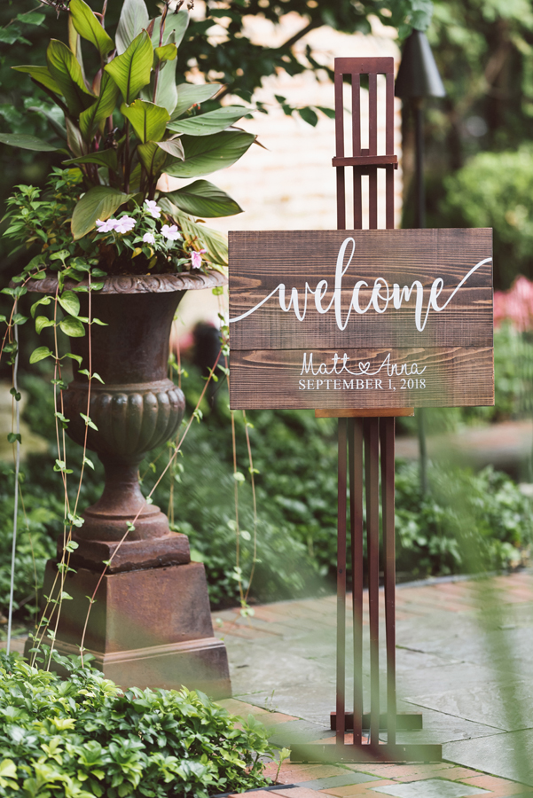 Wedding welcome sign.