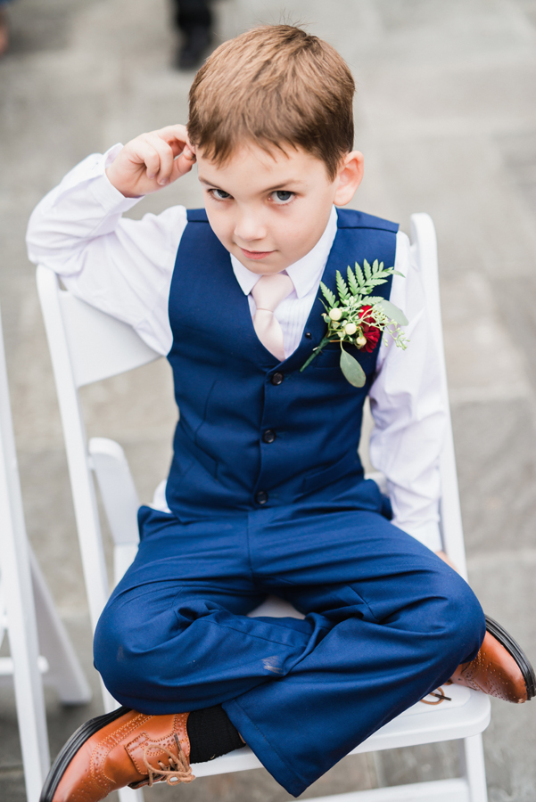 Sassy ring bearer.