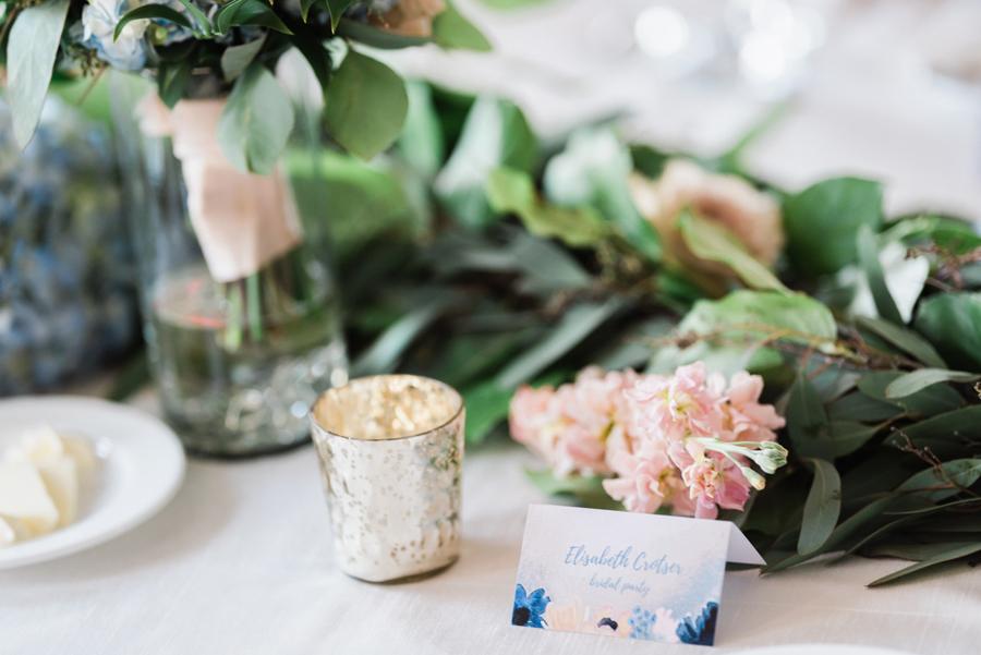 Wedding reception details.