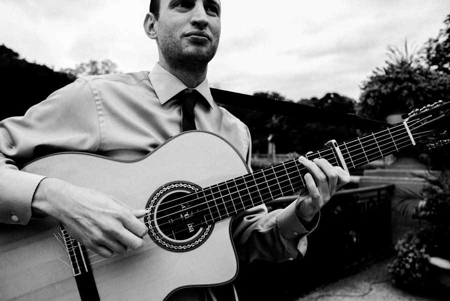 Wedding ceremony guitarist.