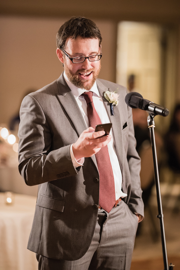 Best man toast.