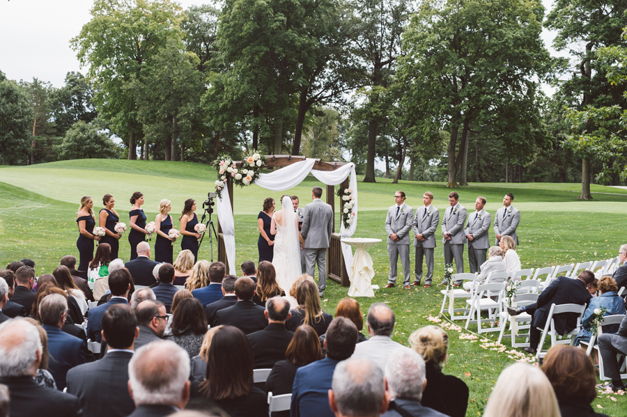 Wedding ceremony at Medinah Country Club.
